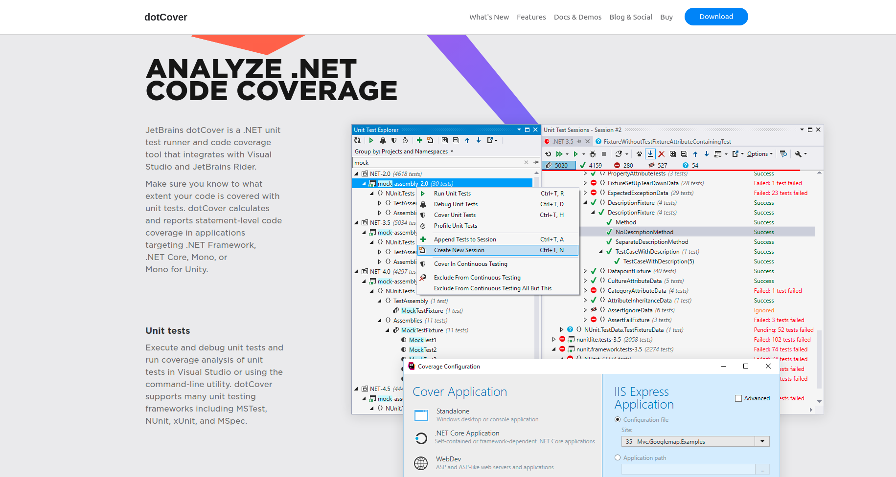 DotCover tool homepage