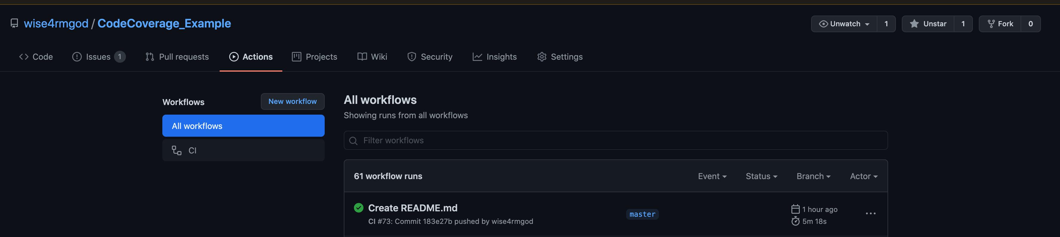 All workflow runs