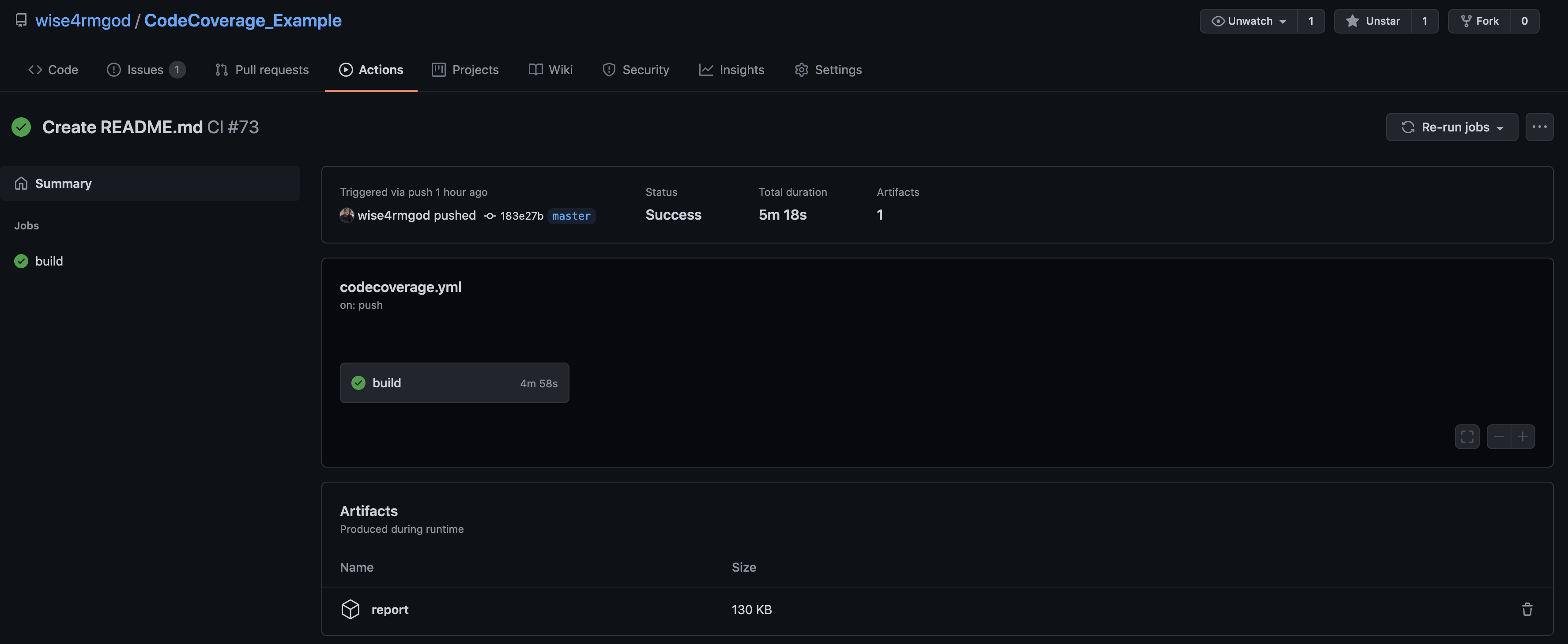 GitHub Actions build